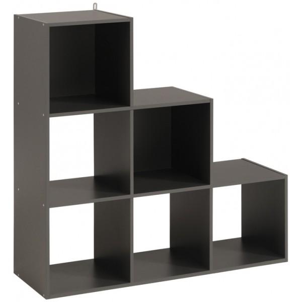 parisot kubikub 6 cube tier m rkegr. Black Bedroom Furniture Sets. Home Design Ideas